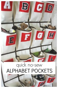 How To Make Alphabet Pockets Hanger Over The Door Hanger No Sew