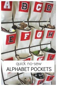 How To Make Alphabet Pockets Hanger Over The Door Hanger No Sew