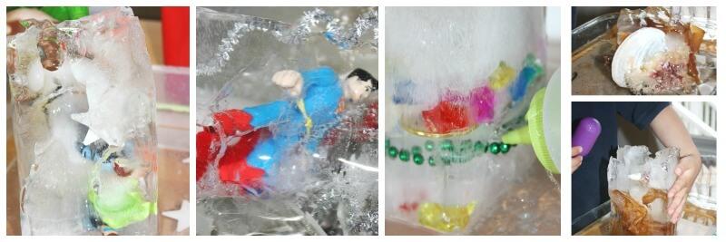 Ice Science super Heroes Treasure Hunt Seashells