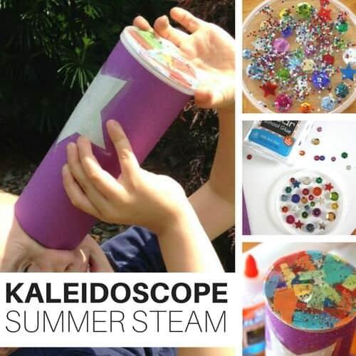 Simple Kaleidoscope Kids Summer STEAM Activity