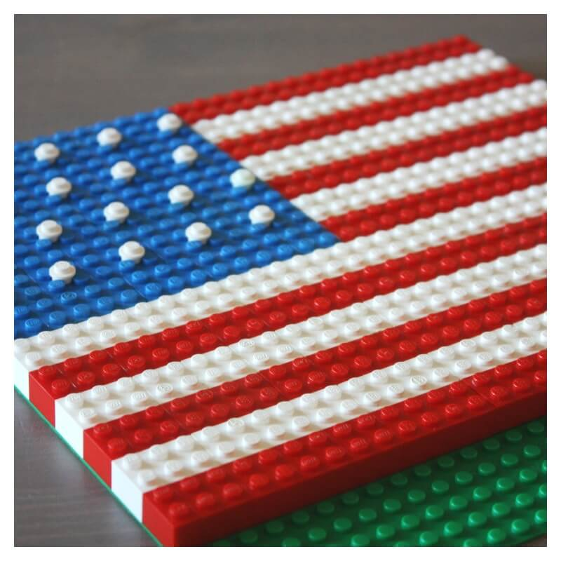 Lego American Flag Patriotic Activity
