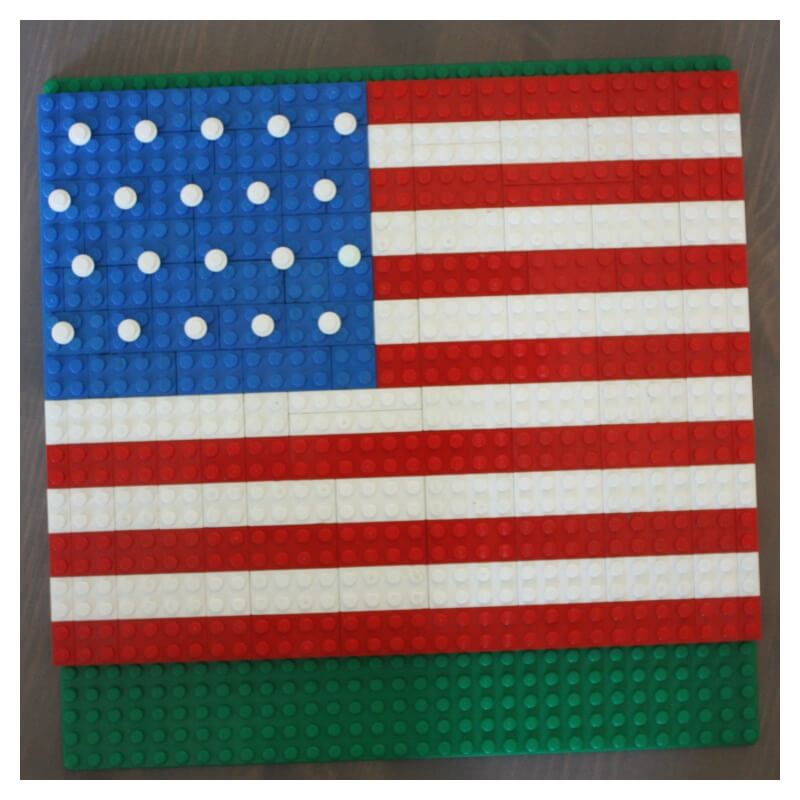 Lego American Flag on base plate
