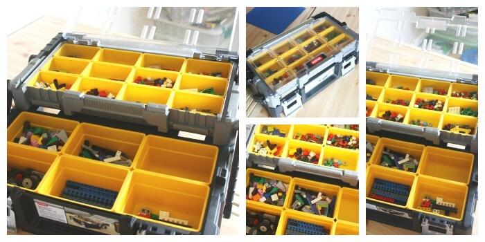 Lego Organization Ideas 2 Tier Storage Container