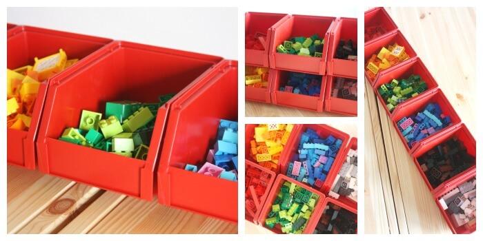 Lego Organization Ideas Stacking Bins Hardware Store Storage Solutions