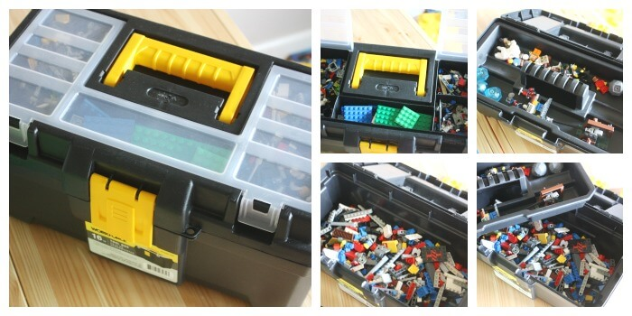 Lego Organization Ideas Tool Box with Removable Tray and Small Compartments