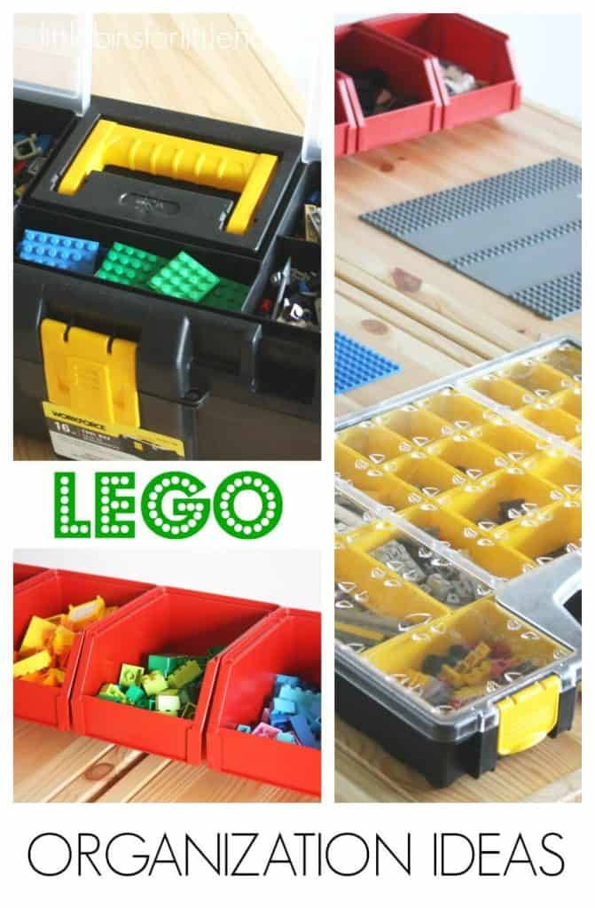 How to store LEGO organization ideas and brick storage solution ideas for kids and families.