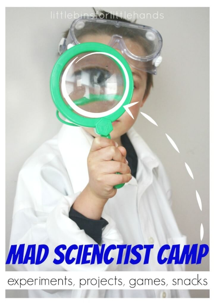 Mad Scientist Theme Science Camp for Kids
