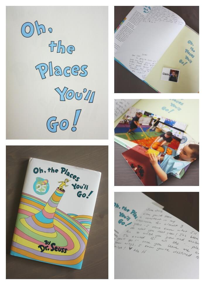 School Memory Book Idea Dr Seuss Oh The Places You Will Go Graduation School Keepsake for kids