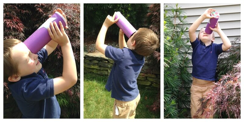 Simple Kaleidoscope for Kids Outdoor play activity