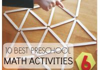 10 Back To School Preschool Math Activities for counting, shapes, and number recognition