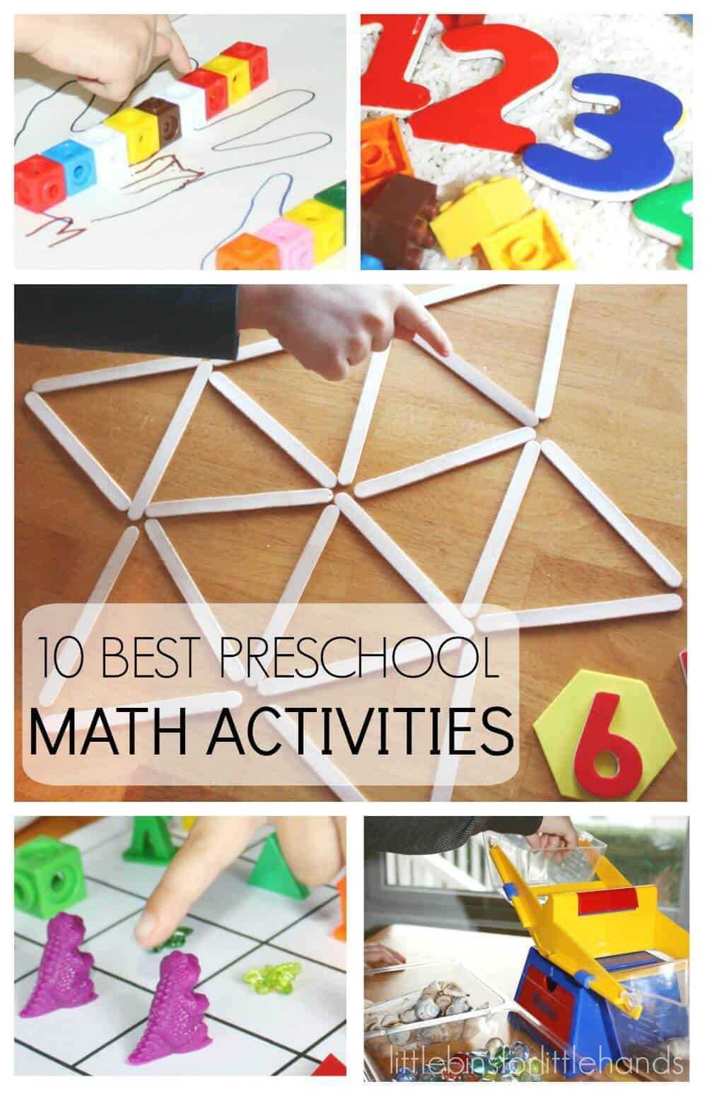 10 Back To School Preschool Math Activities for Kids