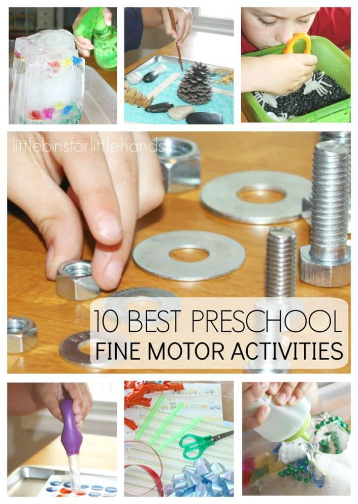 10 Back to School Preschool Fine Motor Activities