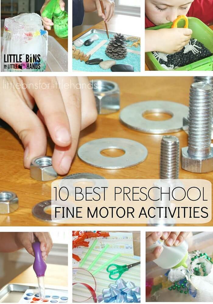 Preschool Fine Motor Activities For Pre Writing Skills
