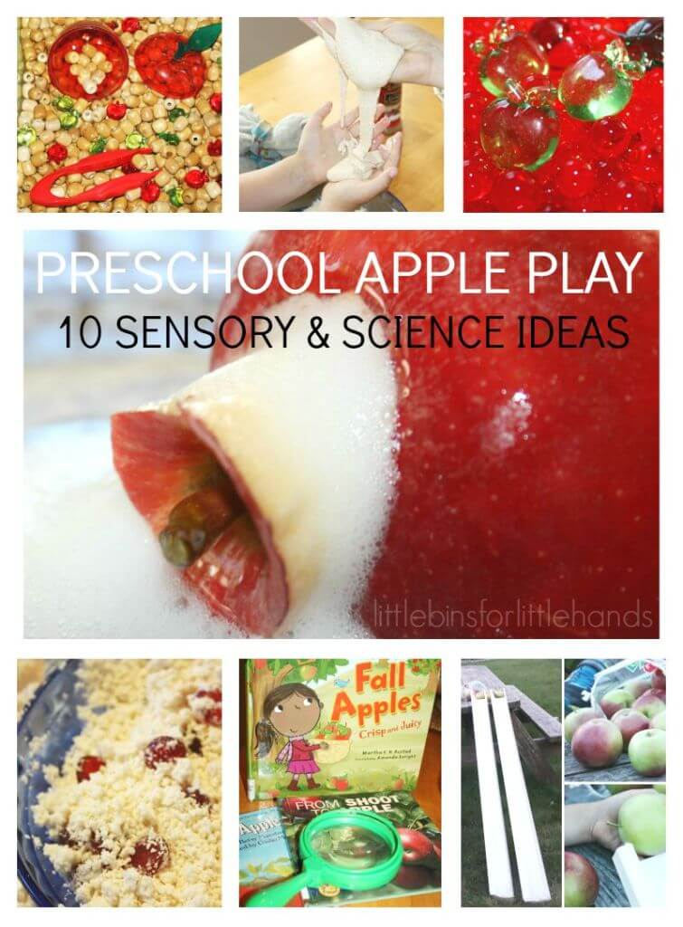 10 Preschool Apple Activities Science Experiments Sensory Play Fine Motor Skills Math
