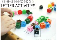 10 best Preschool Letter Activities for hands on learning through play