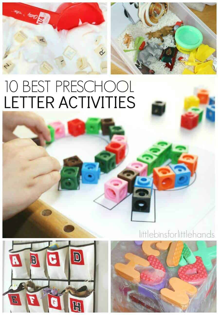 10 Back to School Preschool Letter Activities