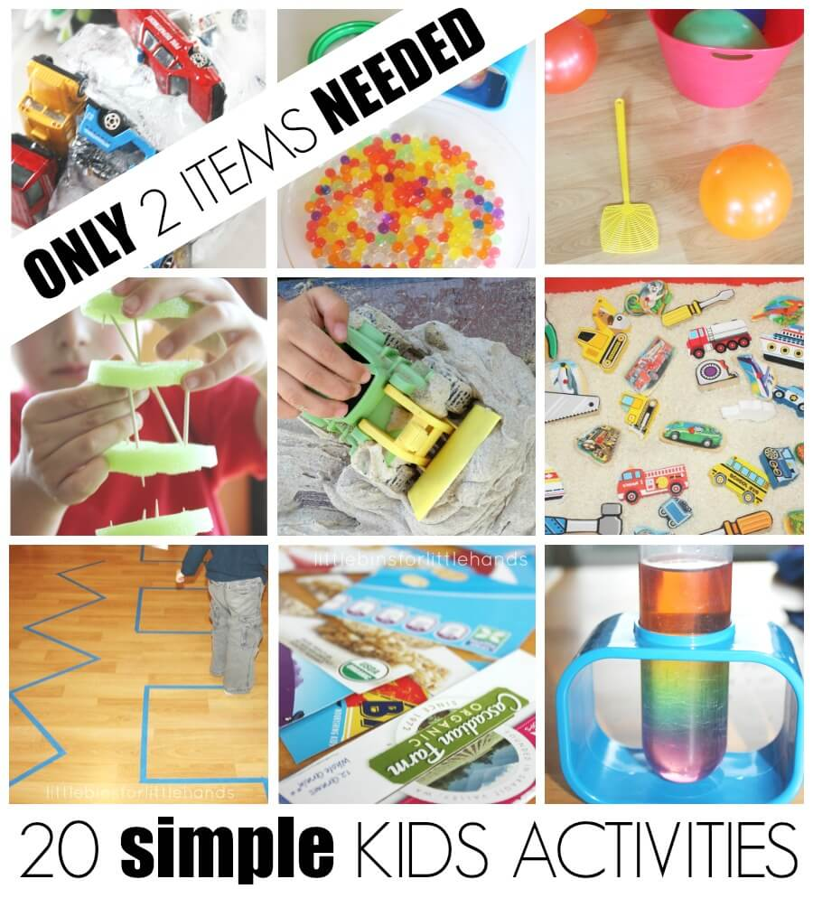 20 Simple Kids Activities Only 2 Items Needed