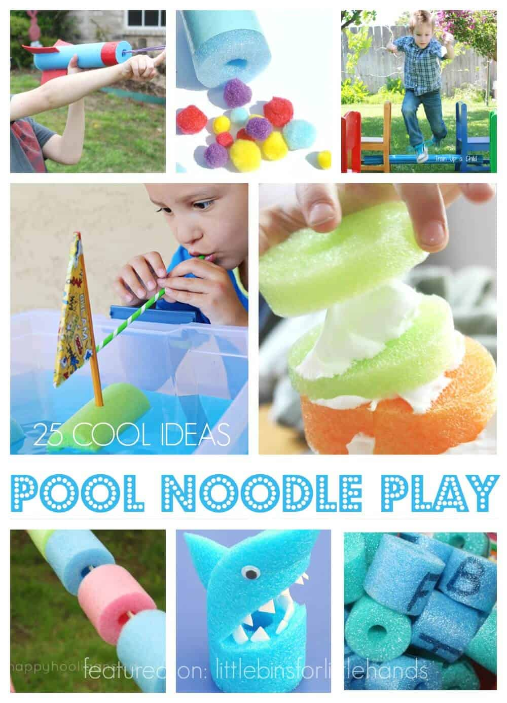 Giant List of 25 DIY Pool Noodle Play Ideas for Kids