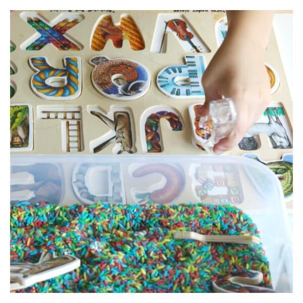 Alphabet Puzzle Sensory Search