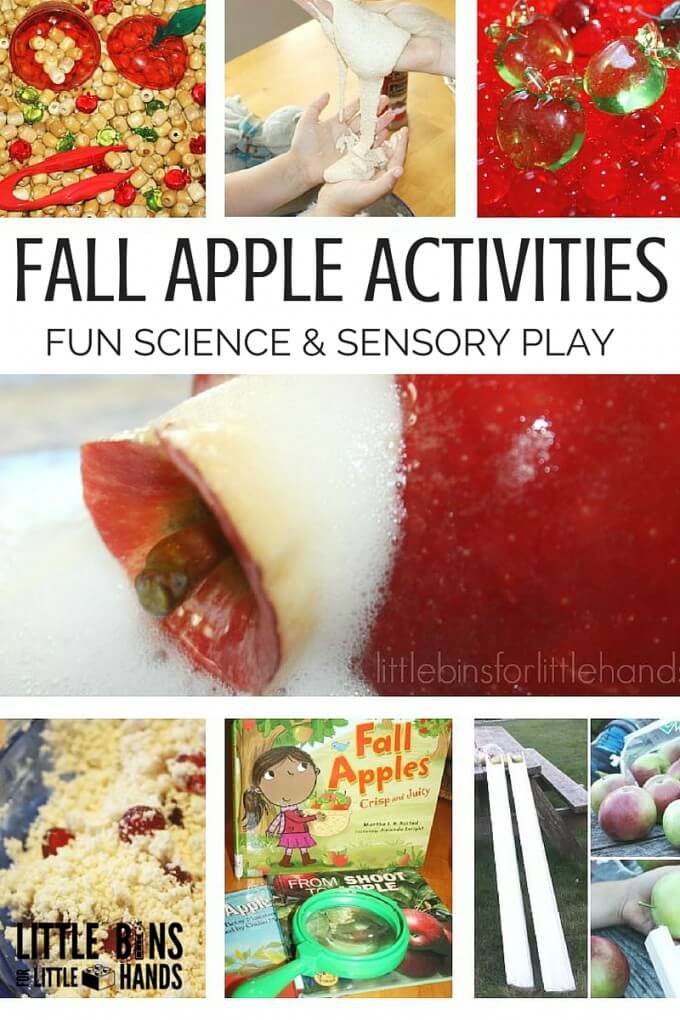Try these fun apple activities for preschool apple theme this fall.