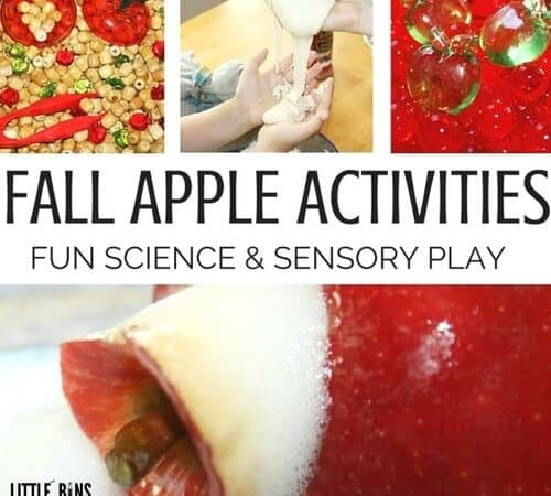 Kindergarten and Preschool Fall Apple Activities