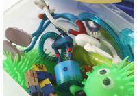 Homemade sensory kit for kids with fidget toys