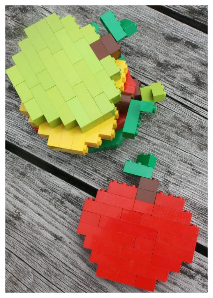 Lego Apples Red and Green Apple Activity