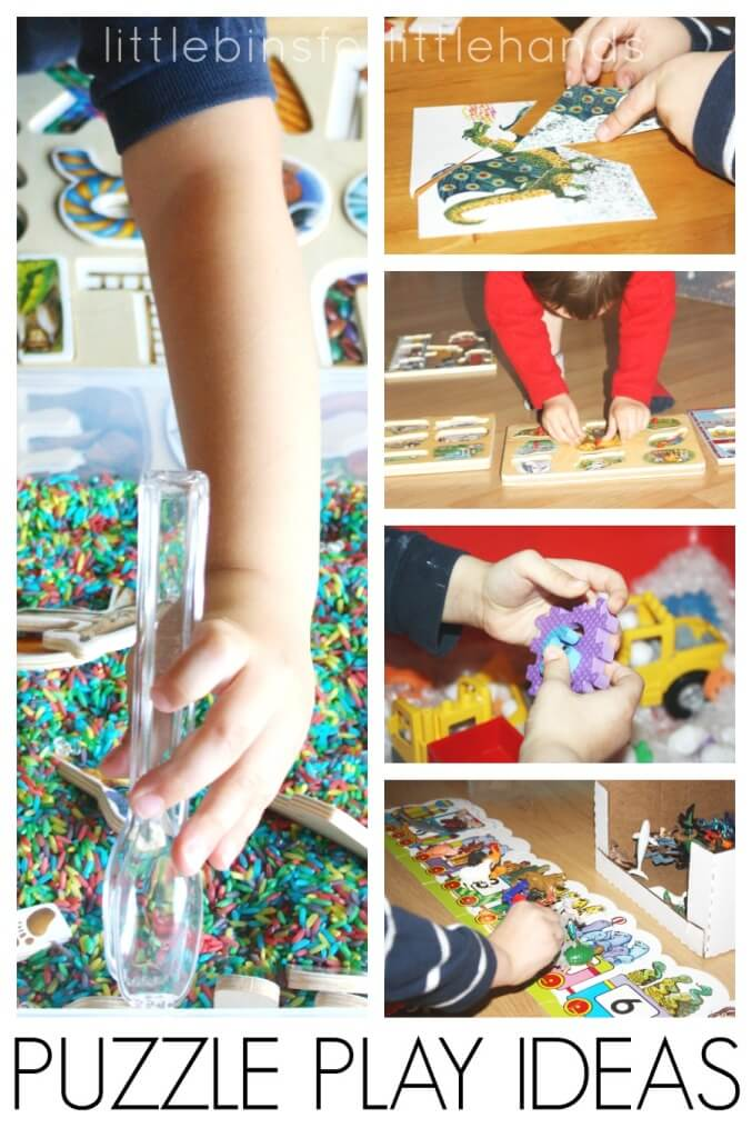 Puzzle Play Ideas Puzzle Activities for Kids Fine Motor Math Sensory Play