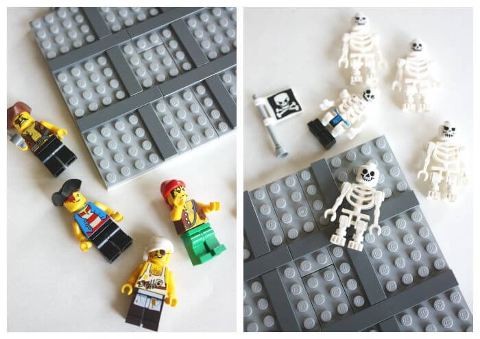 DIY Tic Tac Toe LEGO Game Pirates Skeletons