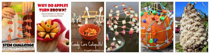 Fall Science Activities and Fall STEM Challenges Pumpkin Theme and Apple Theme