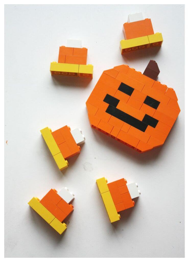 Halloween LEGO STEM Jack O Lantern Pumpkin Activity