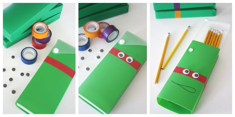 How to make Teenage Mutant Ninja Turtle Pencil Boxes for Kids