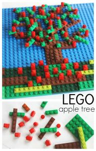 LEGO Apple Tree Mosaic Fall Mosaic with LEGO pieces