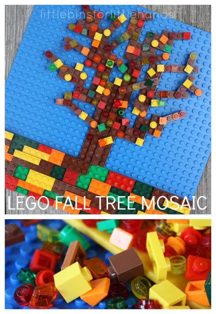 Lego Fall Apple Tree Mosaic STEAM Activity
