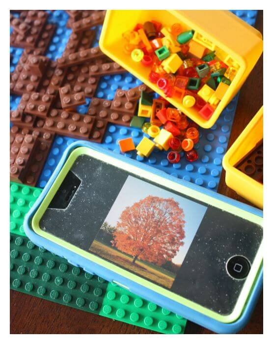 Lego STEAM Fall Tree Project Exploring Changing Leaf Colors