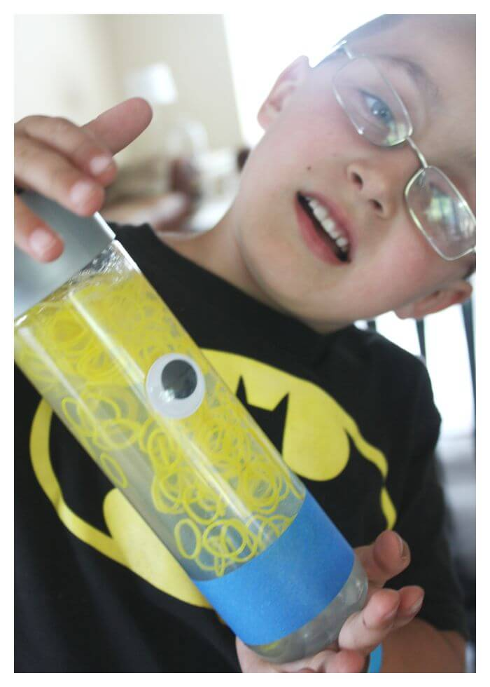 Minion Sensory Bottle Being Shaken