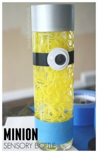 Minion Sensory Bottle Despicable Me Minion Movie Loom Band Activity