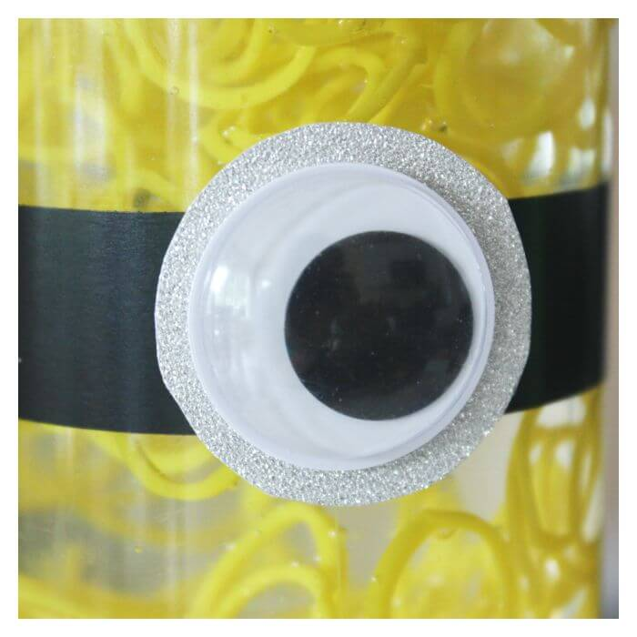 Minion Sensory Bottle Goggle Eye Black Tape Foil Paper
