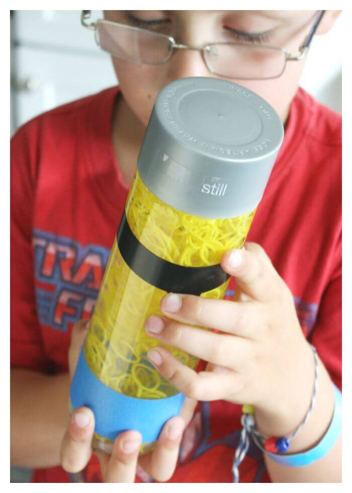 Minion Sensory Bottle Play