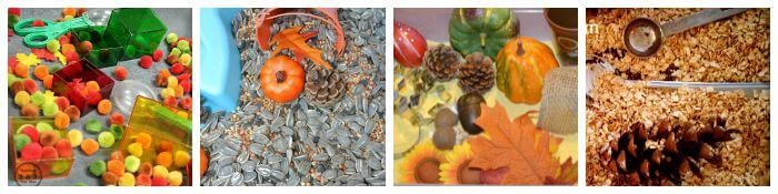 Preschool Fall Sensory Bins Fall Colors Ideas