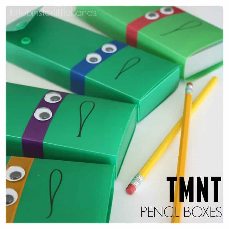 Teenage Mutant Ninja Turtle Pencil Boxes Cases TMNT Craft Tape Google Eyes