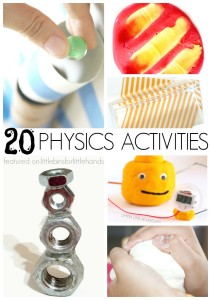20 Physics Activities Science Experiments STEM projects for kids