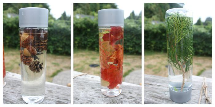 Fall Sensory Bottle Nature Theme