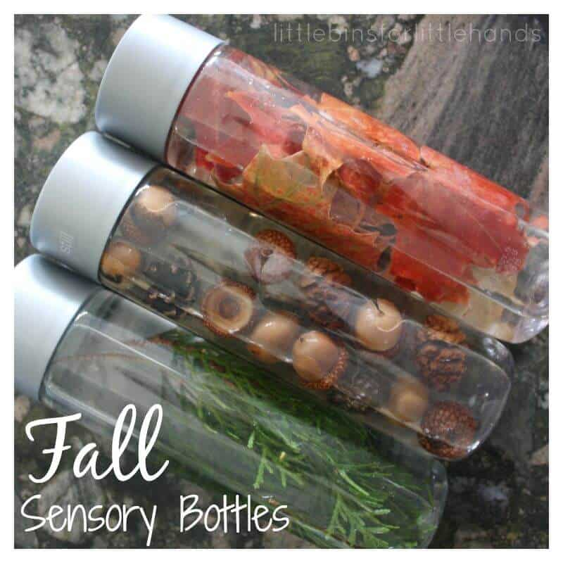 Fall Sensory Bottles Exploring Nature