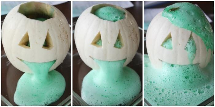 Halloween Carved Pumpkin Science Baking Soda Volcano