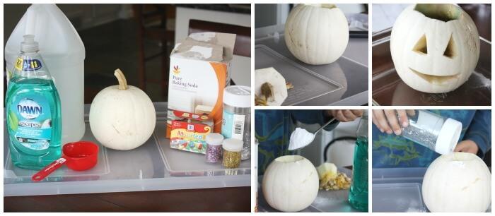Halloween Pumpkin Science Baking Soda Volcano Carved Pumpkin Activity