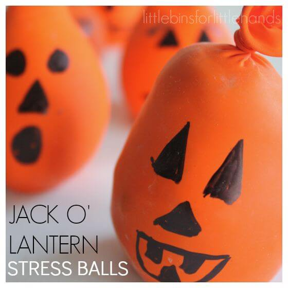 Jack O Lanter Pumpkin Stress Calm Down Balls Kids