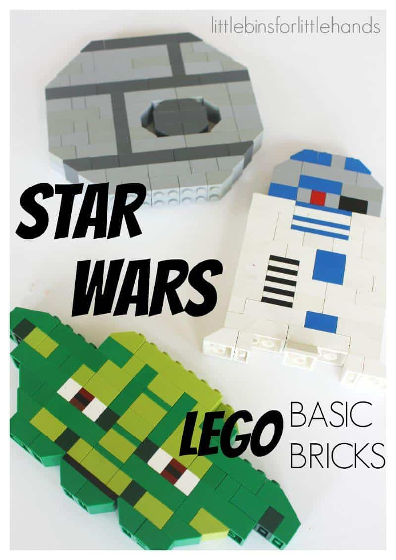 LEGO Star Wars Building Ideas Death Star r2d2 Yoda with basic bricks