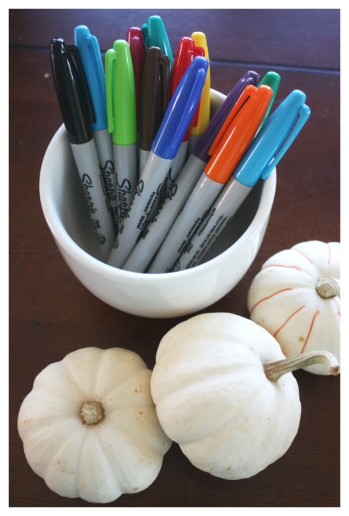 Pumpkin Decorating with Sharpies Fine Motor Writing Activity