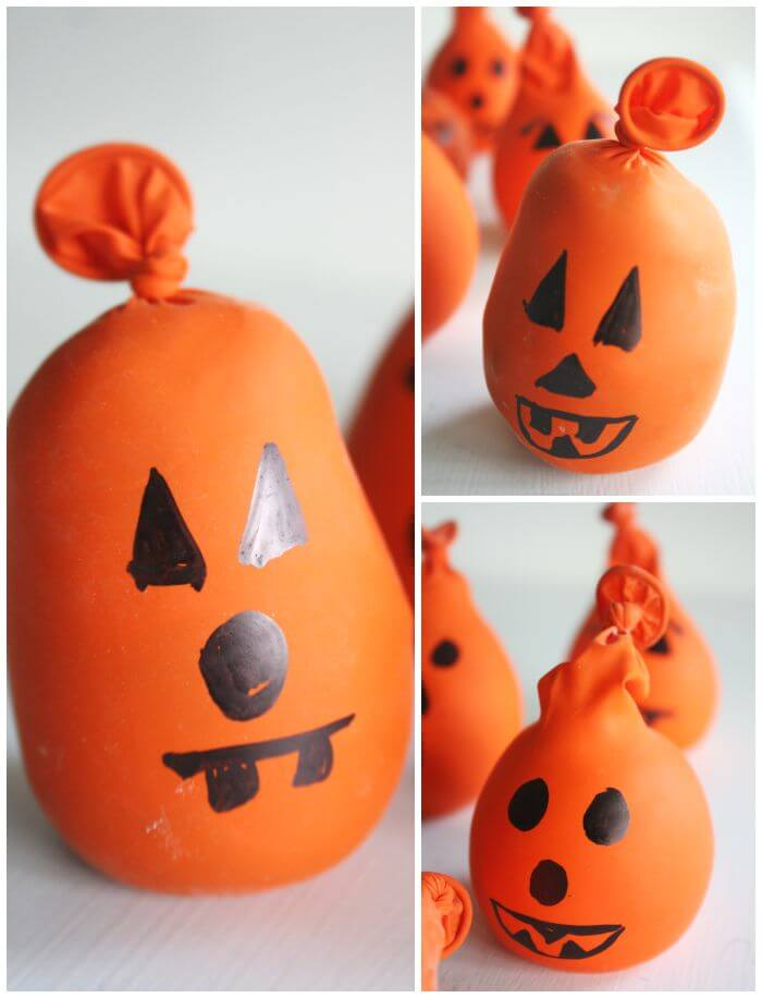 Halloween calm down balls relieving stress anxiety kids for Surprised pumpkin face